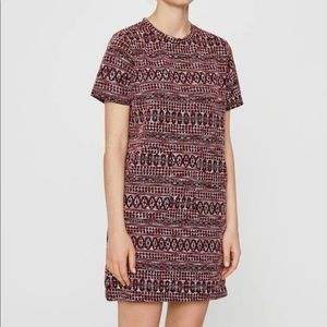 Pull & bear Geometric print tweed dress